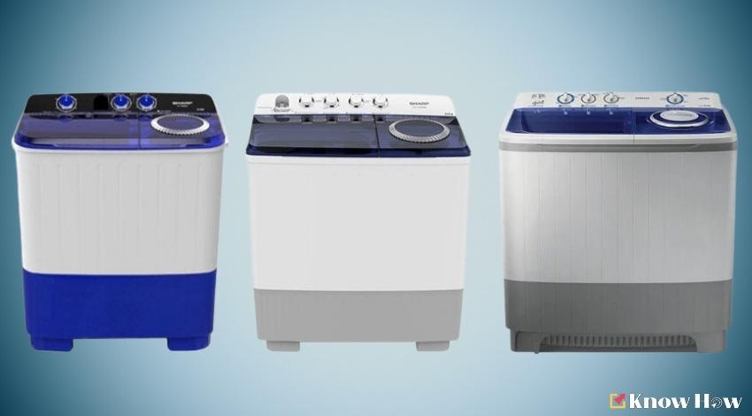 เครื่องซักผ้าแบบ 2 ถัง (ถังคู่) ที่ดีที่สุด